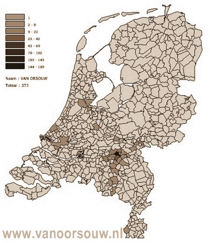 van Orsouw in Nederland