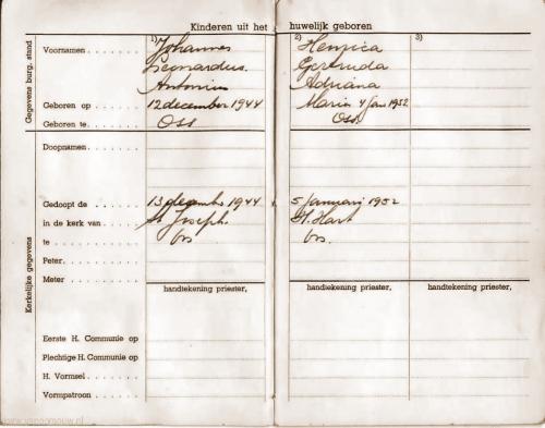 Trouwboekje A. Verploeg- A. van Schaijk