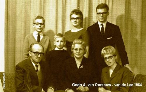 Gezin A. van Oorsouw 1964